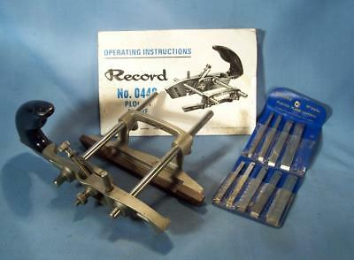 RECORD No 044C  PLOUGH PLANE COMPLETE WITH ALL CUTTERS AND INSTRUCTIONS