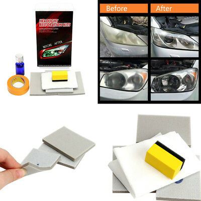 Headlight Restorstion Polishing Restore Kit Car Lens Clear Lights Cleaner DIY