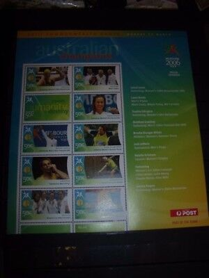 Australia Stamp Sheet Lot 6 2006 Commonwealth Stamp Sheet No 8 Mnh