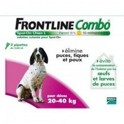 Merial Frontline Combo Chien Taille L 20-40 Kg 4 Pipett