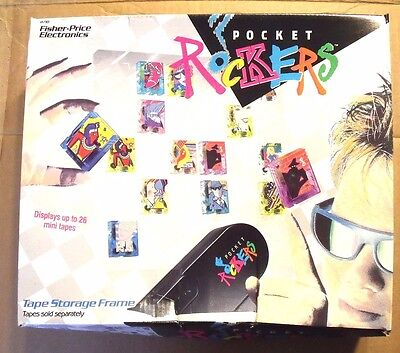 ***** Fisher-Price Pocket Rockers Tape Storage Frame  MIB 1988 *****