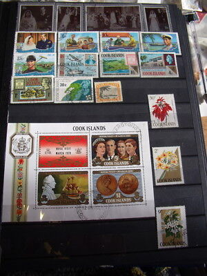 Cook Islands Stamps Lot 2 X 44 Used / Few Cancelled With Gum Hinged Stamps X 2 C