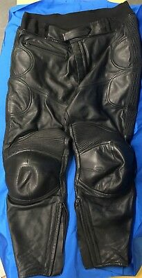 2 Pairs of Leather Motorcycle Trousers - IXS/AKITO
