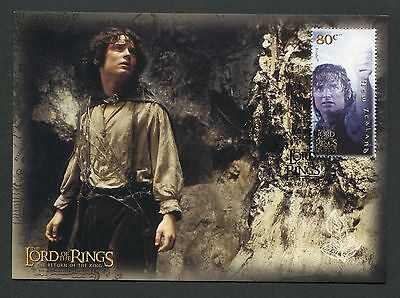 NZ MK HERR DER RINGE / LORD OF THE RINGS FRODO CARTE MAXIMUM CARD MC CM m127