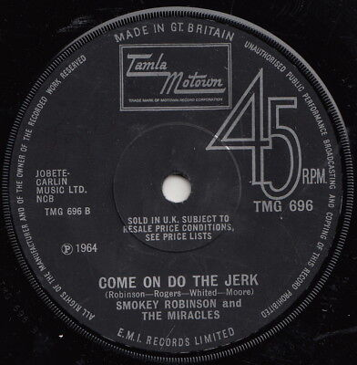 Smokey Robinson & Miracles  Come On Do The Jerk Oop Uk Re  Classic Mod Dancer!!