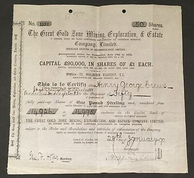 1890 The Great Zone Mining Exploration & Estate Co