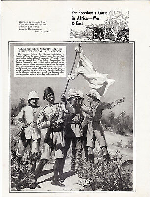 World War 1, For Freedom's Cause in Africa, West & East, 8 Pages