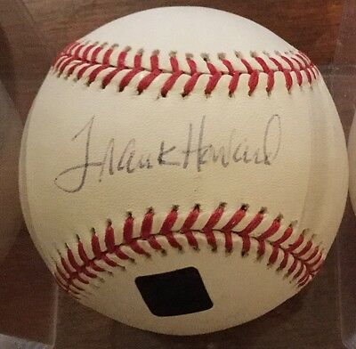 Frank Howard Autographed Baseball, Topps Authenticated