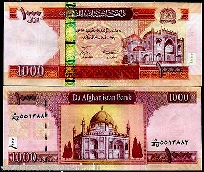 AFGHANISTAN 1000 AFGHANI P77 2008 AH1387 MOSQUE UNC CURRENCY Taliban BANK NOTE