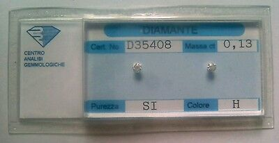 Diamante naturale certificato in blister ct. 0.13 H SI
