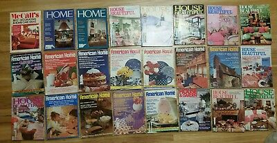 Lot of 24 Vintage 1969-1982 Magazines HOME, HOUSE BEAUTIFUL, AMERICAN HOME