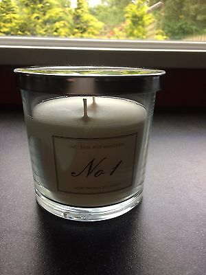 Aldi Luxury Candle NO 1 Basil Lime And Mandarin