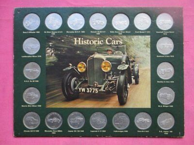 Vintage Historic Cars From Shell Collector's Coins Medallions Full Set Of 20