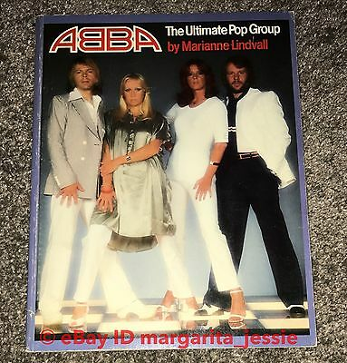 Abba Softcover Book The Ultimate Pop Group By Marianne Lindvall Vintage 1977 Htf