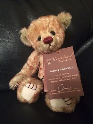 Charlie Bears Ruby Mohair Bear - Limited Edition - Isabelle Lee