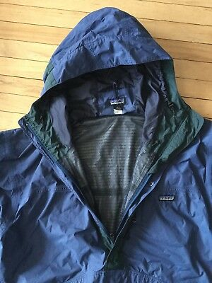 Vtg 90s Patagonia Pullover Anorak Scuba Jacket Snap T Size L Lined Windbreaker