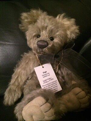 Charlie Bears Digit The Mohair Minimo Bear - Isabelle Lee