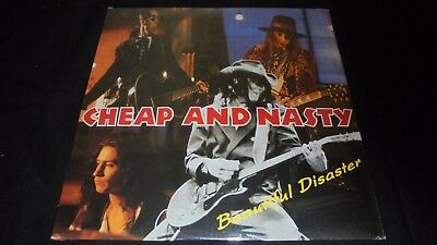 Cheap And Nasty, Beautiful Disaster LP vinyl 1st press hard rock 91 SEALED Mint