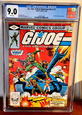 GI JOE #1, CGC VF+/NM- 9.0, 1st Issue based on Hasbro Toy line, WHITE Pages