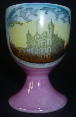The Sailors Home Liverpool Pink Lustre Vintage Egg Cup