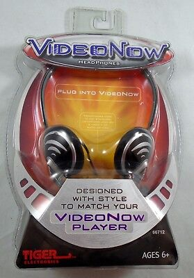 RARE NEW! VideoNow Headphones SEALED Video Now Player Headset Tiger