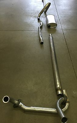 1965-1967 Cadillac Single Exhaust System, 304 Stainless Without Resonator