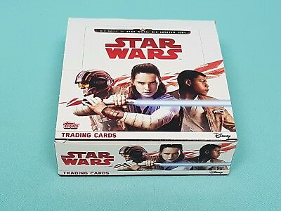 Topps Star Wars 2017 die letzten Jedi 1 x Display / 30 Booster Trading Cards