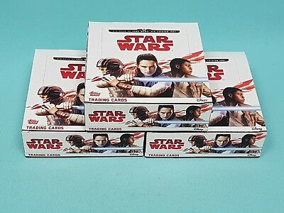 Topps Star Wars 2017 die letzten Jedi 3 x Display / 90 Booster Trading Cards