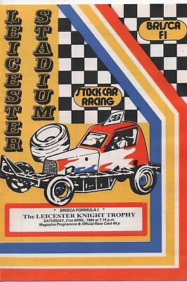 Leicester Stadium  Six Stock Car Programmes from 1984 Season