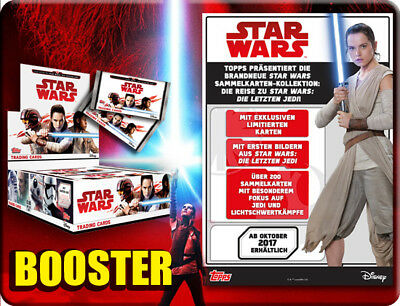 Topps Star Wars 2017 die letzten Jedi 20 Booster / 100 Trading Cards