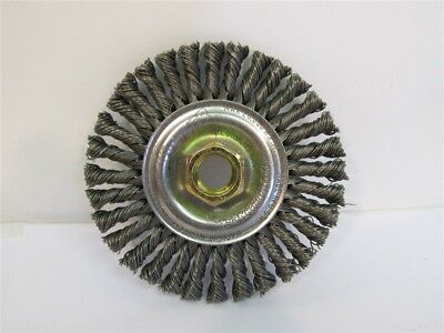 """Weiler 13131, 4"""" Root Pass Brush 5/8""""-11 A.H., .020 Steel Wire"""