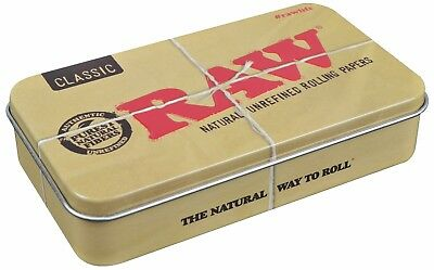 RAW Classic Metal Storage Tin Box Accessory for Papers/ Cones 118mm