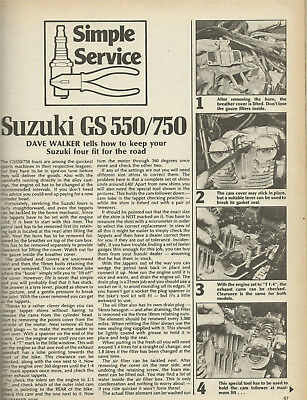 Suzuki Gs550 Gs750 Full End-To-End Diy Service Guide