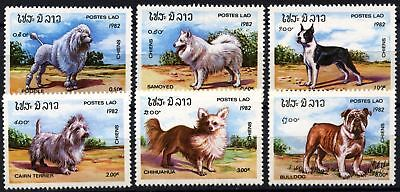 Laos 1982 SG#591-6 Dogs MNH Set #D58987