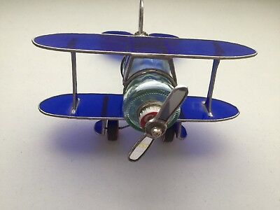 Hand Made Stained Glass Airplane grand canyon coke bottle artisan
