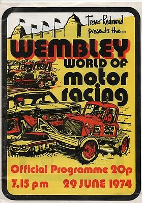 Wmbley World of Motor Racing  29th June 1974