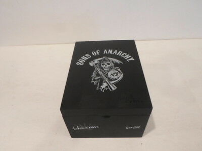 Sons Of Anarchy  Black Crow Collectible Wood Cigar Box Good Condition