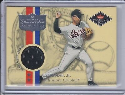 CAL RIPKEN JR 2001 Fleer Platinum National Patch Time Jersey Card