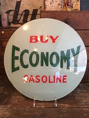 "Original Wilshire Oil Co. Buy Economy Gasoline 15"" Globe Lens Polly Radio Gas"