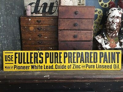 Original Fullers Pure Paint Embossed Tin Sign Country Store Advertising Sign