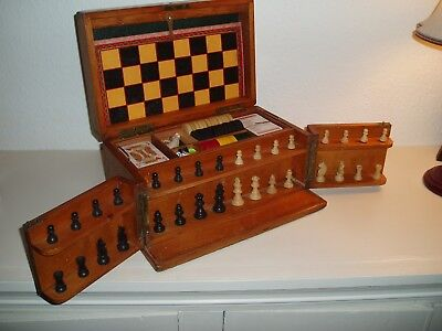 Old Games Compendium Box - Chess, Draughts, Dominoes and lots more