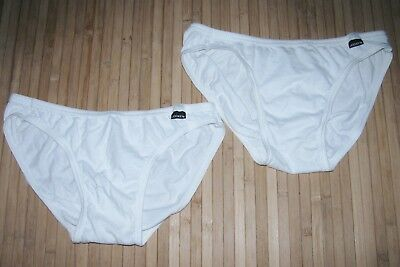 LOT of 2 JOCKEY Brief ELANCE Size XL Vintage WHITE Excellent Condition