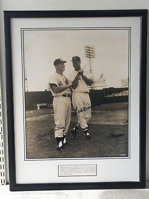 Mickey Mantle & Ted Williams Authentic Autographed Signed Framed 16x20 Photo UDA