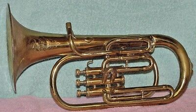 VINTAGE IMPERIAL TENOR PECK HORN 1772 ITALY 922 Copyright MMEC PLAYS