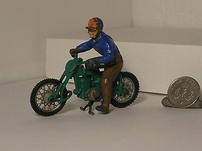 Vintage Britains GREEVES Challenger Motorcycle MX Scrambler Trail Bike & Rider
