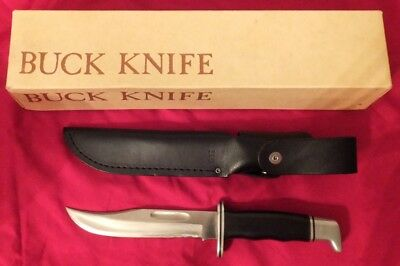 Buck Model 119 Hunting Knife Leather Sheath Original Box and Paperwork - used
