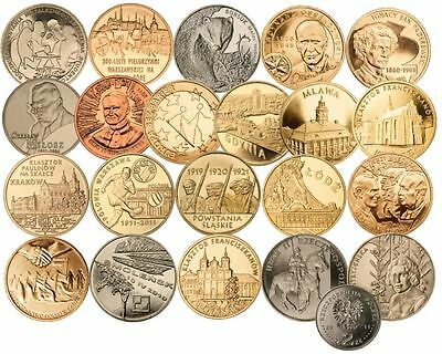 21 coins - 2 zlote 2011 -- full year set --- UNC/new Mint condition