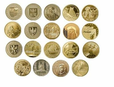 173 coins - 2 zlote - 2005-2014 -- full year sets -- UNC/new Mint condition