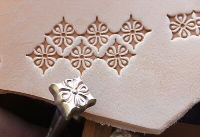 012-02 Decor 11x11 mm Leather Custom Tool Punch 3D Brass stamp collectibiles
