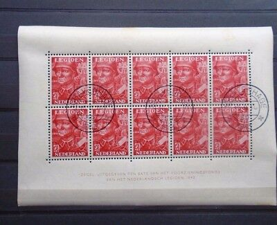 1942 Legioen Sheet Vf Used Netherlands Nederland B663.4 0.99$